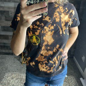 Salt Life Black Yellow Graphic Bleached T